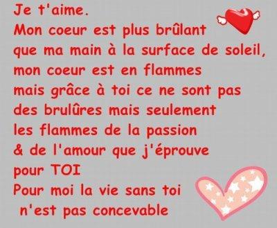 Poeme d amour blog de missjulie1430 - T aime te faire belle ...