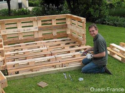 La palette de bois un jeu de construction blog de saka et line - Construction en palette ...